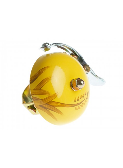 Crane hand painted bell Yellow Autum