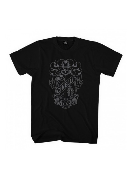 Camiseta Cinelli Crest Black T-Shirt