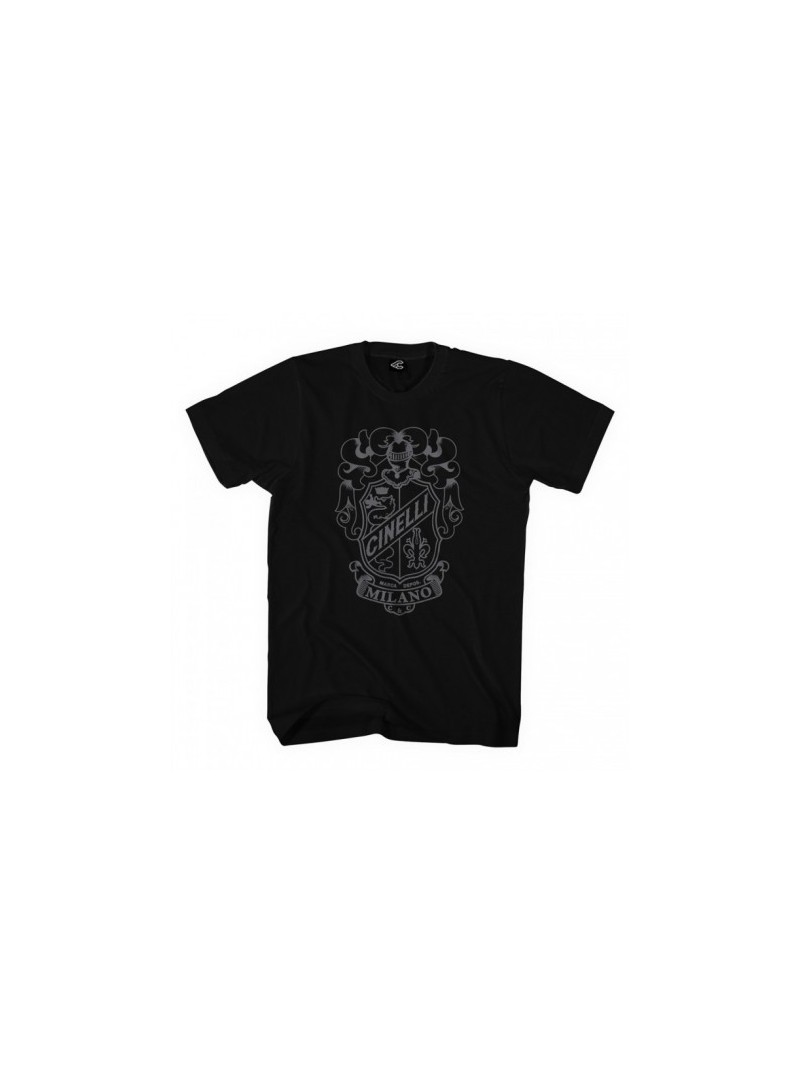 Camiseta Cinelli Crest Black T-Shirt