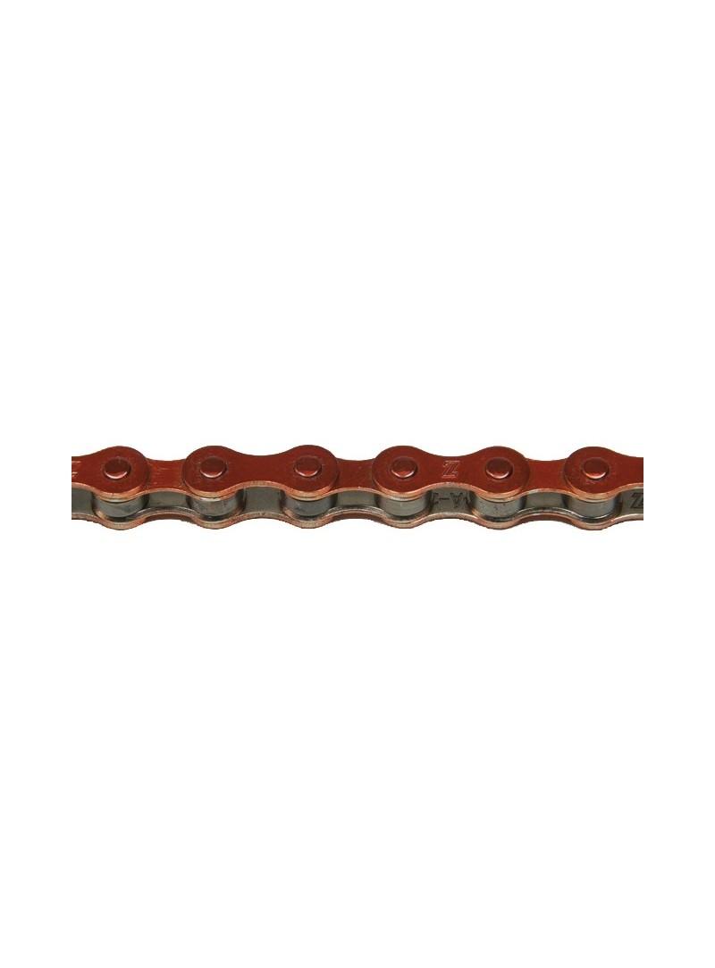 Cadena KMC S1 1V rojo metálico