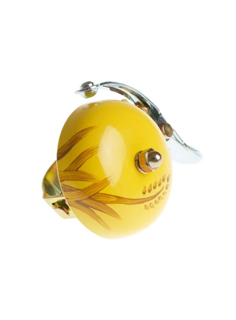 Crane hand painted bell Yellow Autum
