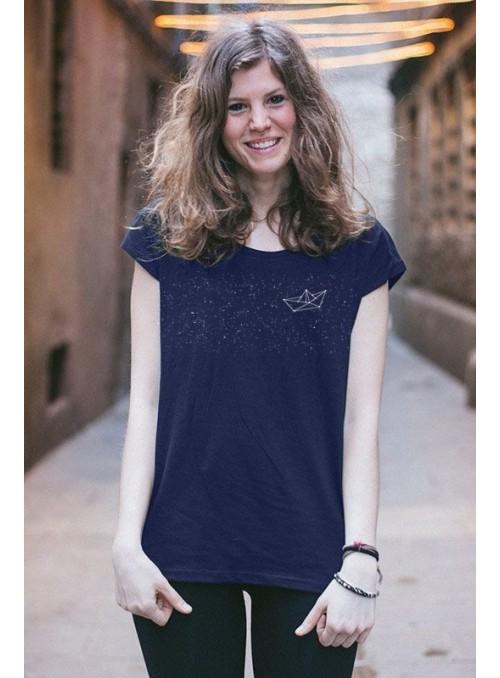 Camiseta Barco-Color azul