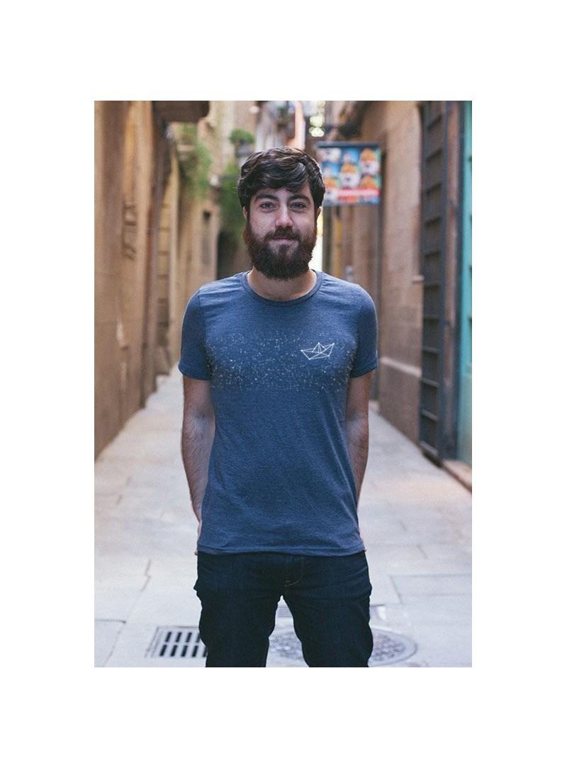 Camiseta Barco- Color azul