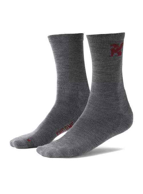 Merino Crew Socks Chrome -...