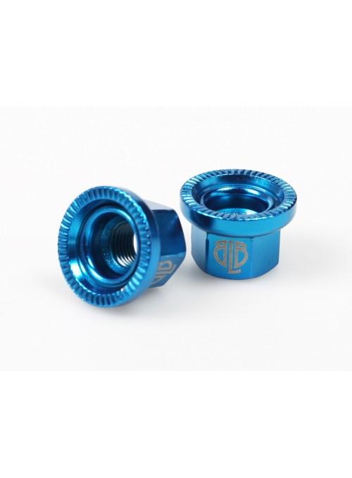 BLB Steel Track Nuts - Blue